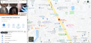Map: Laser Chain & Skin Centre